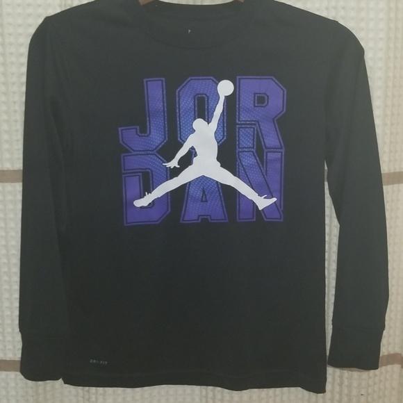 Jordan Other - Jordan long sleeve black dri-fit tshirt boys sz L